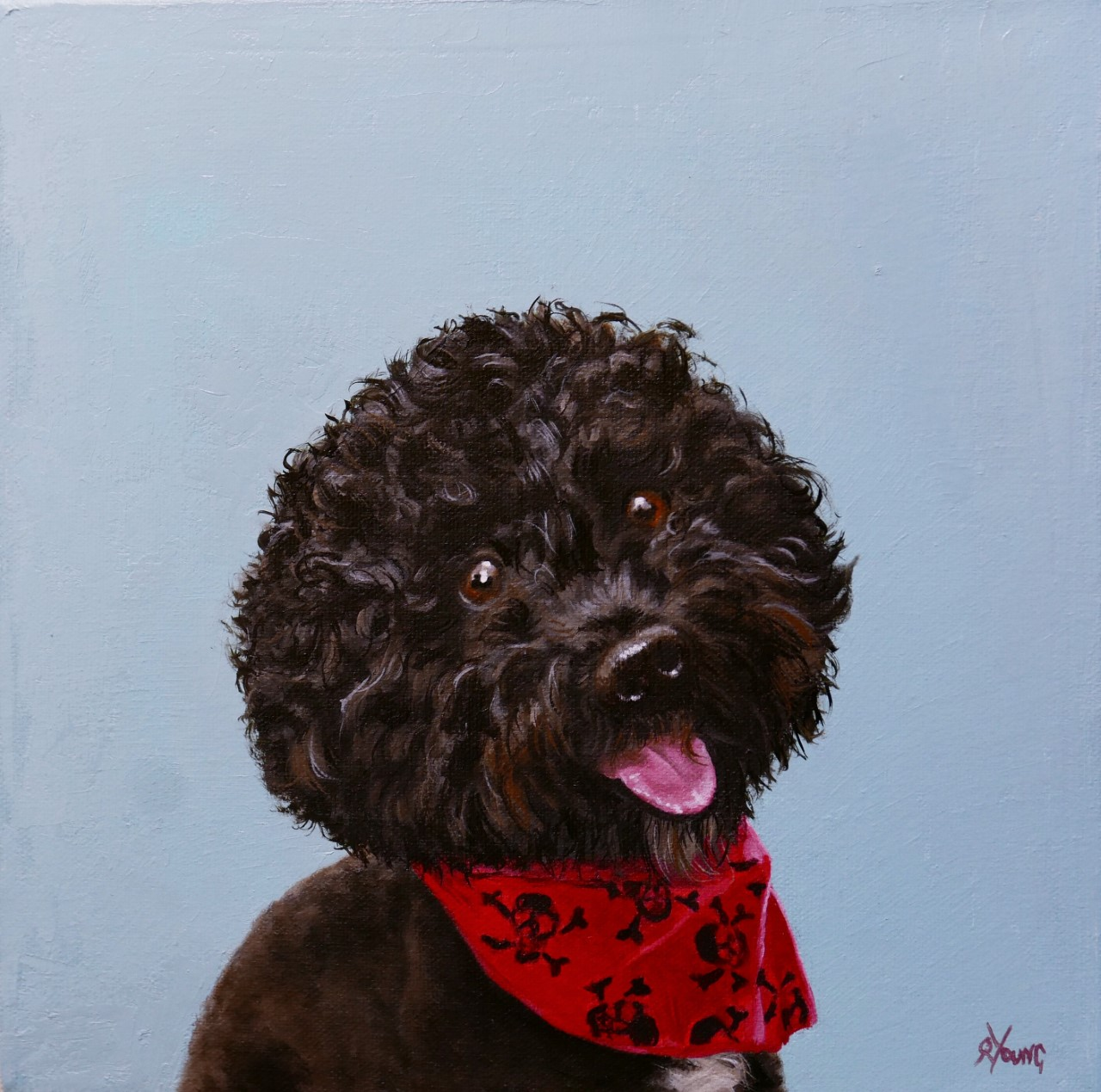 Bobby dog oil painting
