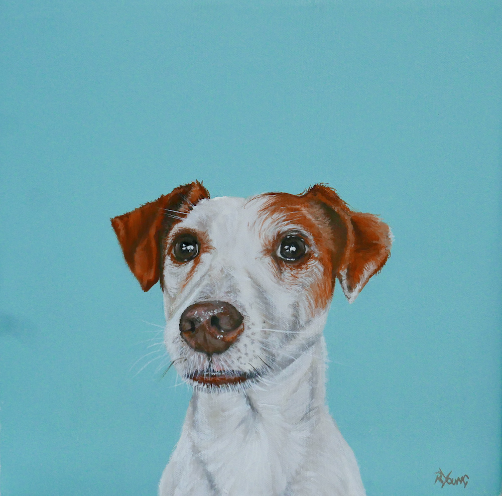 Duke dog painting by Ricky Young