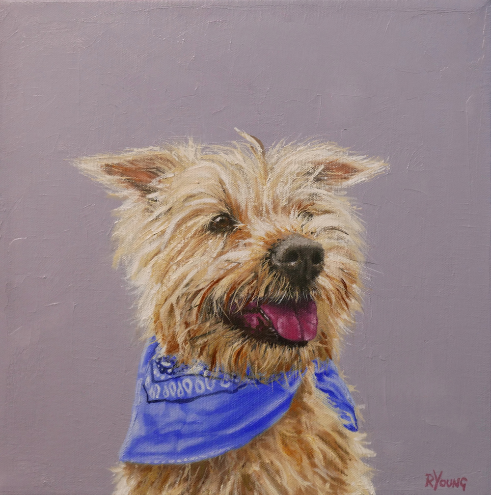 Millie contemporary dog painting