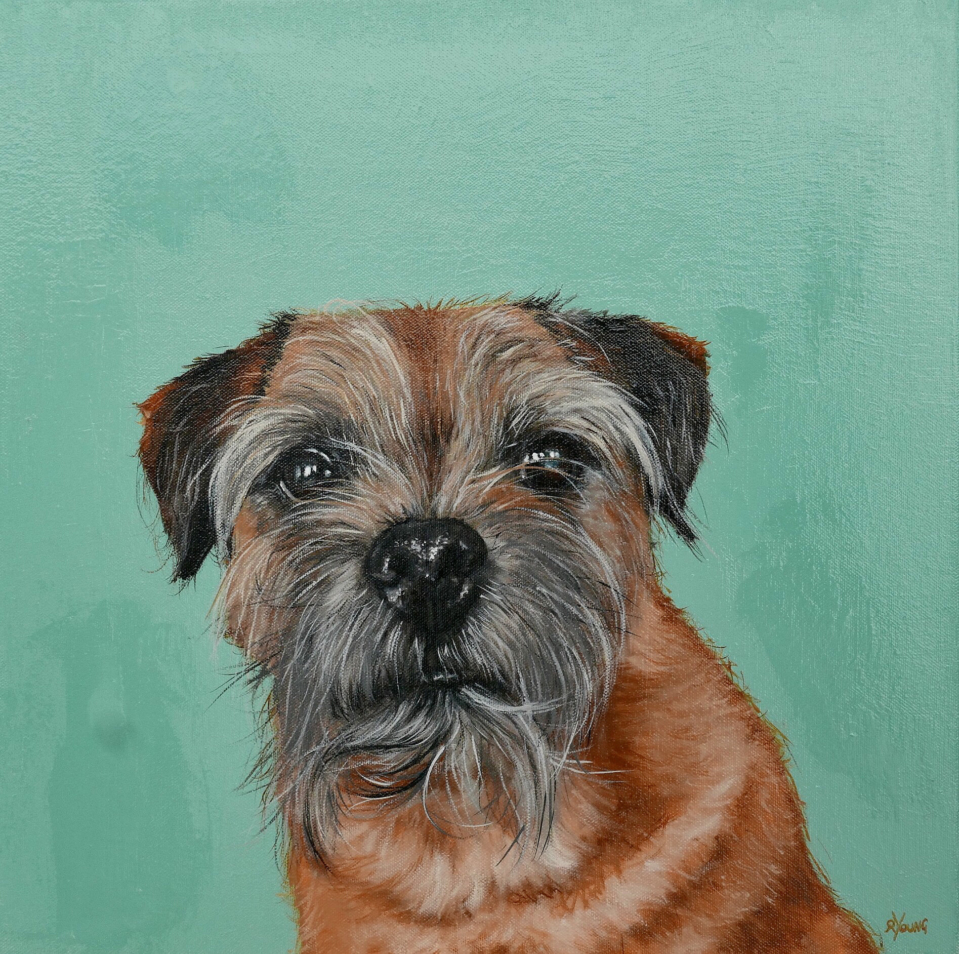 Rowland north west dog painting
