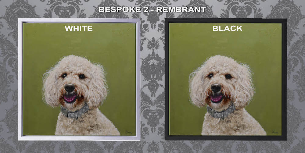 Many bespoke frames to choose from